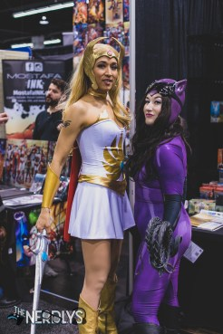 She-Ra and Catwoman (@missmelindajean and @ladyraegun)