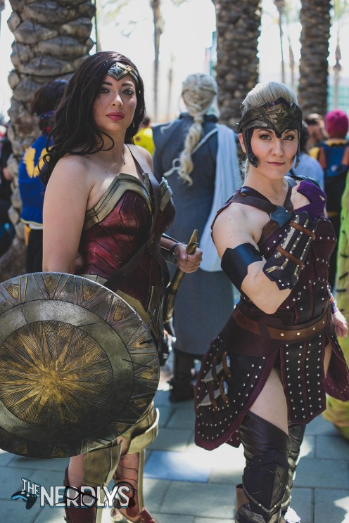 Wonder Woman and Antiope (@pixel_stitcher)