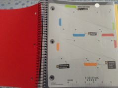 Mead Five Star College Ruled Spiral Notebook Movable Tabbed Dividers