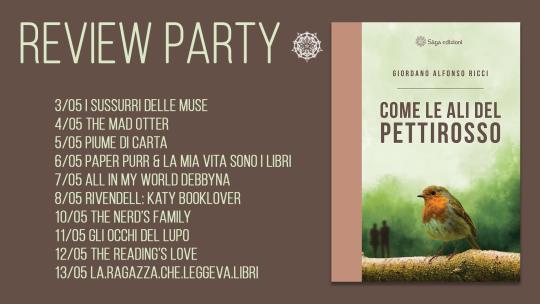 Come le ali del pettirosso – Review Party di Sága Edizioni