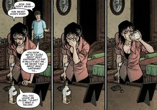 Nina struggles with her alcoholism.
