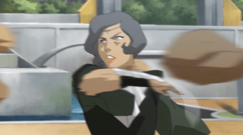 Earth bender, possibly Toph?