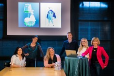 """Toy Story 4 """"Bo Is Back"""" Presenters (L-R) Patty Kihm (Directing Animator), Mara MacMahon (Characters Modeling Artist), Tanja Krampfert, Becki Tower (Directing Animator), Carrie Hobson (Story Artist), Valerie LaPointe (Story Supervisor) on April 3. Photo by Marc Flores. ©2019 Disney/Pixar. All Rights Reserved."""