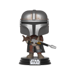 Mandalorian Pop! Vinyl - $9.99 A fearsome sight in Mandalorian armor, the enigmatic bounty hunter tracks his prey on a planet far away from the long arm of the law.