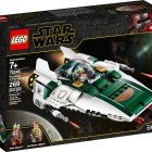 """LEGO® Star Wars™ 75248 – Resistance A-Wing Starfighter™ - $29.99 Add an iconic A-wing to any Star Wars™ collection! Fly into Star Wars: The Rise of Skywalker action with the awesome Resistance A-Wing Starfighter! It's got cool details, like spring-loaded shooters and an opening cockpit to sit Snap Wexley at the controls. You also get Lieutenant Connix, so whether you're planning an attack against the evil First Order or just flying over the surface of a distant planet, this cool LEGO® playset is so much fun! Includes Snap Wexley and Lieutenant Connix LEGO® Star Wars™ minifigures. This Star Wars™ building toy features an opening minifigure cockpit, retractable landing gear, wingtip cannons and 2 integrated spring-loaded shooters. Playset weapons include Snap Wexley's blaster pistol and Lieutenant Connix's blaster. Recreate exciting moments from the Star Wars: The Rise of Skywalker movie. Makes a great birthday gift, Christmas present or surprise gift for any occasion. LEGO® Star Wars™ starship measures over 2"""" (7cm) high, 7"""" (20cm) long and 4"""" (12cm) wide. Available October 4"""