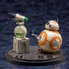 ARTFX DーO&BB-8 - $109.99 Kotobukiya is proud to announce the addition of a new Star Wars ARTFX statue based on Star Wars: The Rise of Skywalker: D-O & BB-8! Just how do these two characters interact? Watch the film to figure out for yourself! From the torch that can be attached to the side panel that can be opened and closed, this statue is sure to give fans the feeling of owning their very own BB-8. The sculpt and design of both BB-8 and D-O stay true to their original design despite it being in a 1/7 scale. The base also resembles the deck of the Millennium Falcon, giving this statue realism from top to bottom. Available at Amazon.com and Kotobukiya distributors.