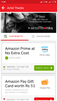 Airtel 51rs Amazon Gift Card