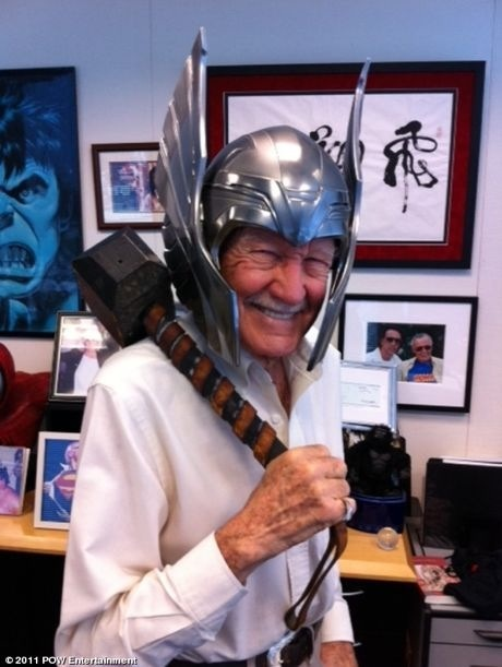Just another day at the office for Stan Lee