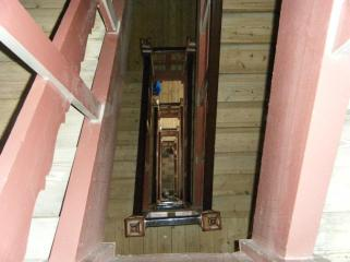 Part of the stairs leading to the top of the church