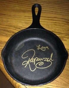 Rapunzel signed my frying pan!!!