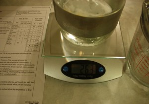 Measure Water for Soap