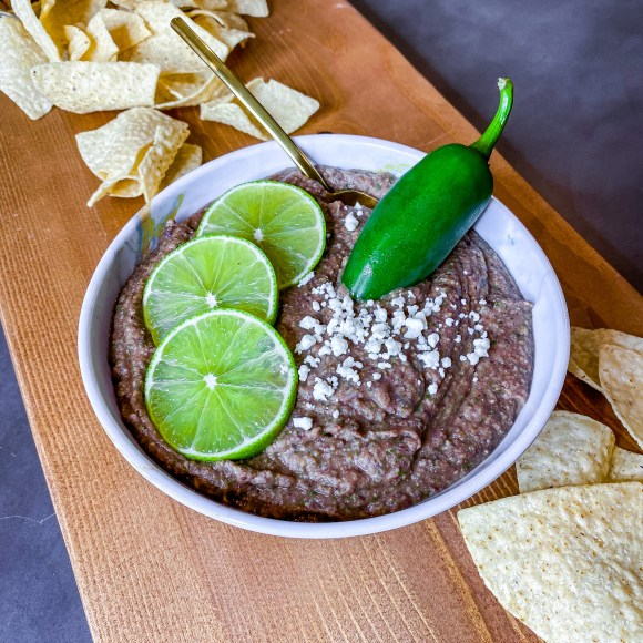 Warm Black Bean and Chickpea Dip recipe inspired by the book Mexican Gothic