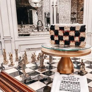 half chessboard cake