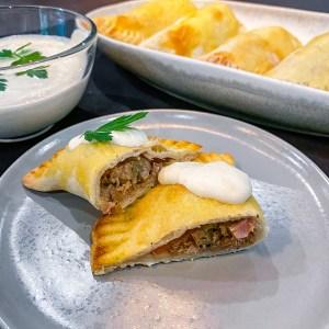 Pot Roast Empanadas with Horseradish Sauce