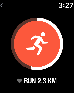 A running goal on Streaks for Apple Watch