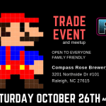 raleigh retro gamers, compass rose, trade event, retro games, gaming raleigh, retro games raleigh