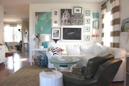 How to Change the Theme of Your Decor Without Breaking the Bank But  as you look at the room  the accent color is found in things that are  easy to change