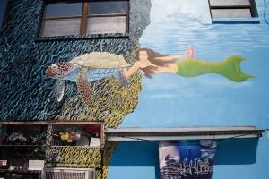 Murals at the Sponge Docks, Tarpon Springs, Florida