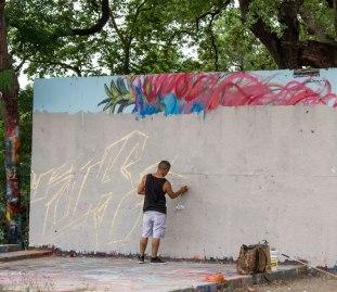 Street Art at Hope Outdoor Gallery in Austin, Texas