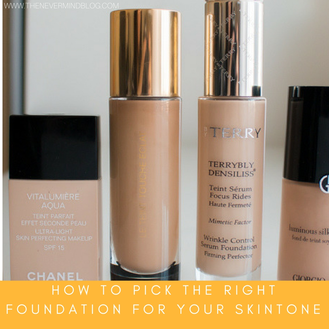 3 Step to Picking the Right Foundation For Your Skintone