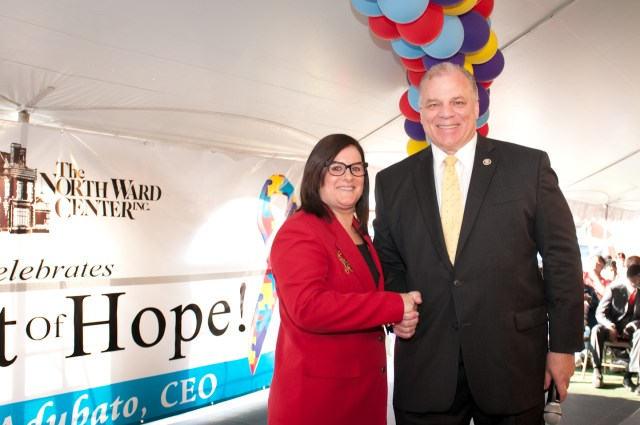 Michele Adubato and NJ Senate President Sweeney