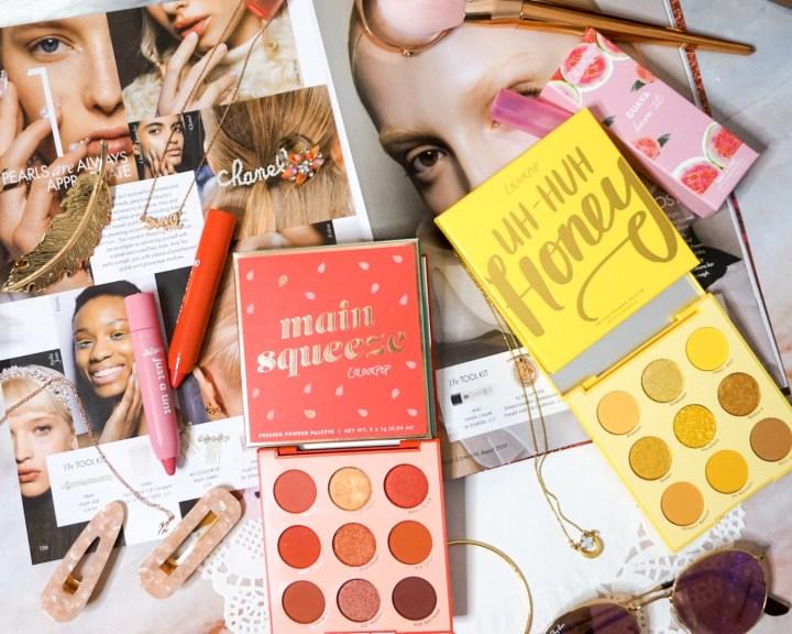 ColourPop Monochromatic Palettes - Main Squeeze Eyeshadow Palette, Uh-Huh Honey Eyeshadow Palette, Guava Have It Lip Tint Duo