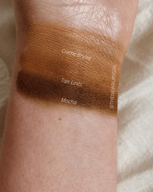 Makeup Geek Swatches - Creme Brulee, Tan Lines, Mocha