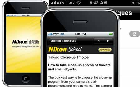 iPhone App by Nikon