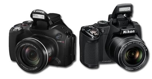 canon SX 40 HS vs Nikon p500