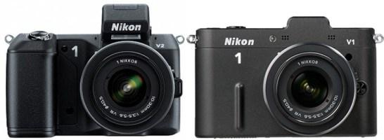 Nikon V2 vs Nikon V1 front