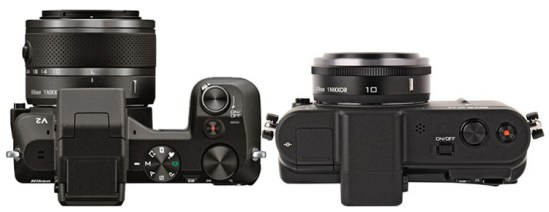 Nikon V2 vs Nikon V1 top