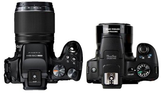 Fuji-HS50-vs-Canon-SX50-TOP