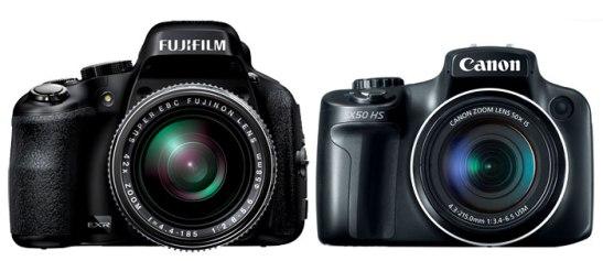 Fuji HS50 vs Canon SX50