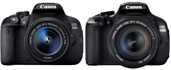 Canon 700D vs Canon 600D