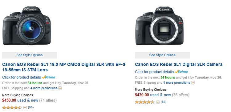 Canon-SL1-110D-Lowest-Price