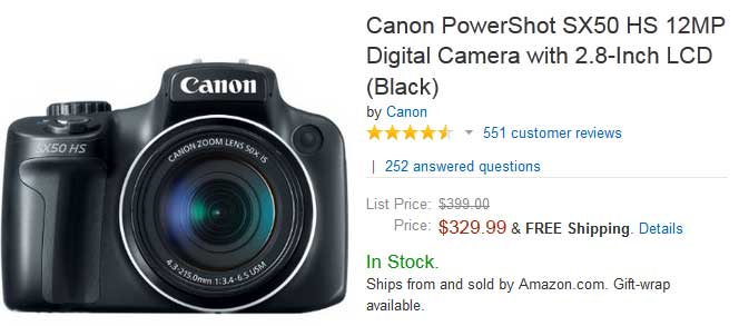 Black Friday Deals Canon Sx50 Hs Available At 329 Lowest Price