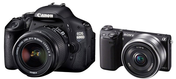 Canon 600D and Sony NEX 5R - 2013 Top Seller Camera in Japan