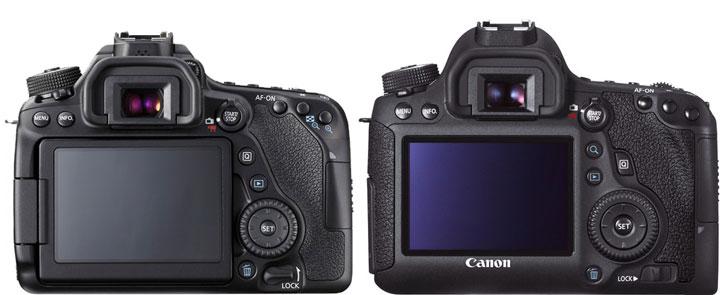 Canon 80D vs Canon 6D back image