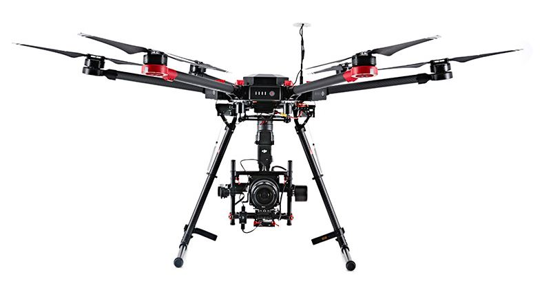 Flying hasselblad camera drone image