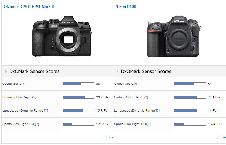 E-Mark II vs D500