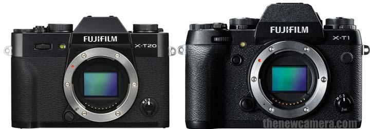 Fujifilm X-T20 vs Fujifilm X-T1