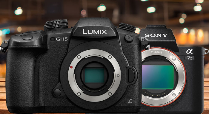 Panasonic GH5 vs Sony A7S II camera
