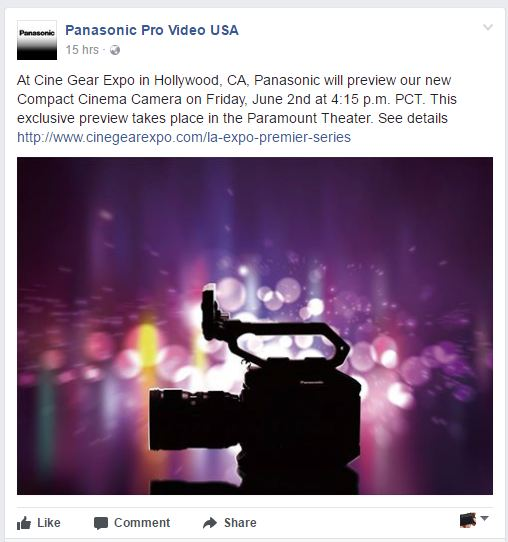 panasonic USA FB page