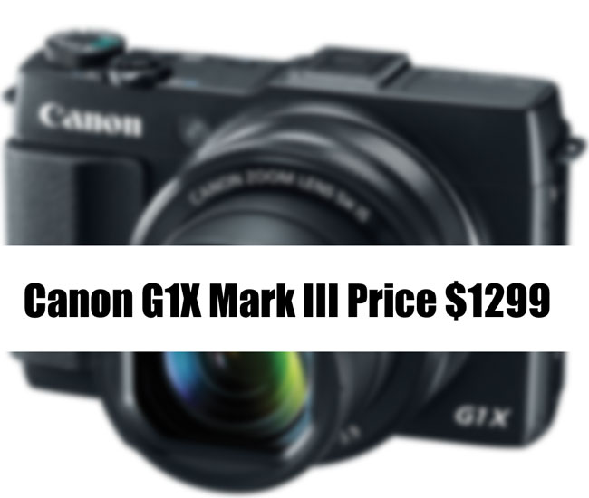 Canon G1X Mark III price