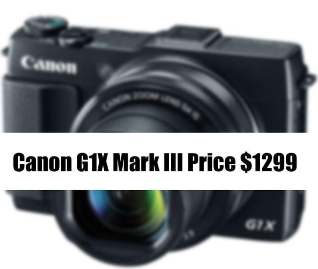 Canon G1X Mark III price
