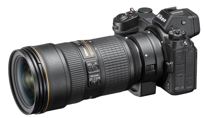 Nikon FTZ adapter will change the focal length of the Lens