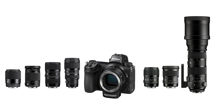 List of Sigma Compatible Lenses with Nikon Z7 / Z6 and Canon EOS R ...