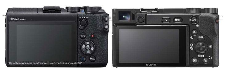 Canon EOS M6 Mark II vs Sony A6100
