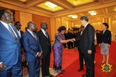 President Xi Jinping with Ghana's Foreign Minister, Shirley Ayorkor Botchwey