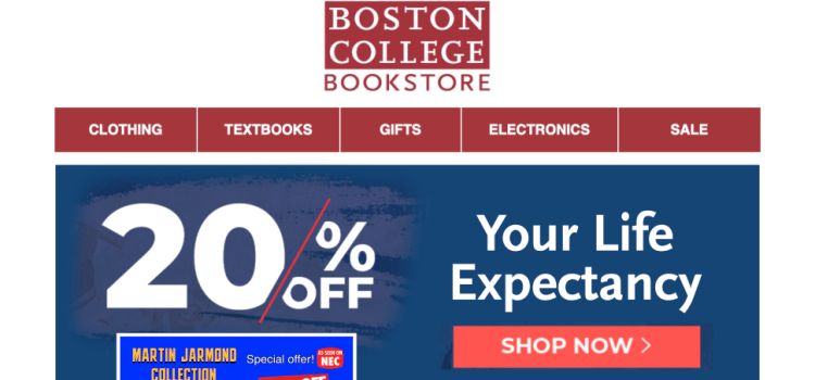 Spooky: BC Bookstore Sale Offering 20% Off Your Life Expectancy